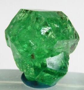 UNBELIEVABLE GLOWING GLASSY GEM TSAVORITE GROSSULAR GARNET CRYSTAL!!! TANZANIA