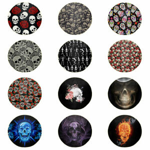 Floral Skull Blanket Sofa Throw Bed Round Blankets Bedding Comfy Mat Towel Home