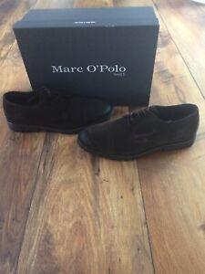 Marc O Polo Herren Schuhe Halbschuhe Schnürschuhe Echtleder schwarz Gr 43 44 45