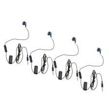 4x 3.5mm   Mono Earphone with Microphone 4ft Earbud Earplug for Sony PS4