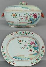 Antique 18thC Chinese Export Porcelain Hand Painted Sheep Tureen & Underplate