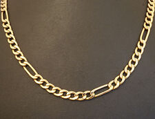 "9Carat Hollow Rose Gold 18.75"" Curb Link Chain (5mm Wide) w/Yellow Gold Clasp"