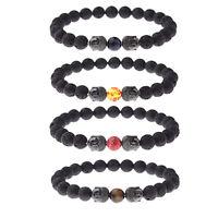8MM Natural Stone Double Buddha Head Bracelets Handmade Healing Lucky Bracelets