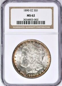 1890-CC Morgan Silver Dollar NGC MS 62 (925-74) 99c NO RESERVE  Witter Coin