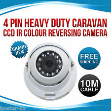 4 PIN Heavy Duty Caravan CCD IR Colour Reversing Rearview Camera 12v/24v