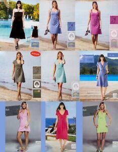 Damen Kleider div. Modelle & Farben,Wickelkleid,Bandeaukleid,Sommerkleid,Strand