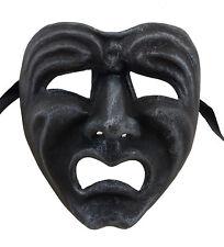 Masque de Venise Visage Volto Papier maché gris acier Tragedie pleurs 22675 GT2