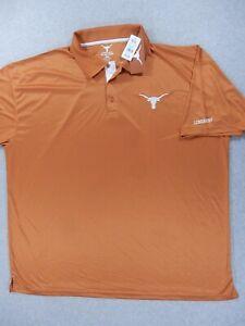 NWT Texas Longhorns Sideline Polo Shirt (Mens 4XL) Burnt Orange