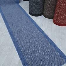 Modern und stabil ! Teppich Läufer TIM KRETA blau 67 cm breit rutschfest