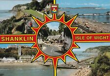 Shanklin Multiview Isle of Wight Postcard used VGC
