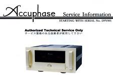 ACCUPHASE A-65 Schematic Service Manual Repair Schaltplan Schematique