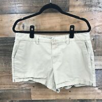 Magellan Women's Tan Flat Front Cotton Spandex Shorts Size 12