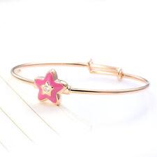 Toddler Kids Girls Baby Child Rose Star Bangle Crystal Bracelet Adjustable Lot