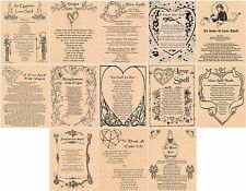 Book of Shadows Spell Pages * LOVE SPELLS * Wicca Witchcraft BOS