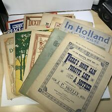 Sheet Music Lot of 10 1888 to 1936 Used