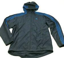 Adidas Veste Grande Taille Bleu Coupe-Vent Complet Zip Manches Longues Sweat