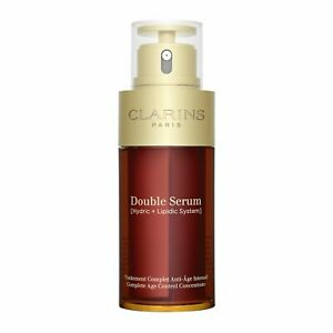 Clarins Double Serum Complete Age Control Concentrate 75ml,2.5oz Anti-Aging NEW