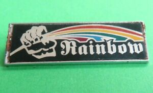 RAINBOW  WARRIOR  ( GREEN  PEACE )   <>  OLD  //  USED  LAPEL  BADGE