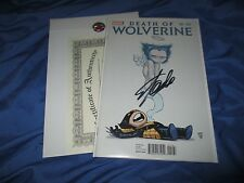DEATH OF WOLVERINE #1 Signed Comic by Stan Lee w/COA~Marvel/1st Print VARIANT
