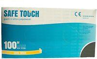 Safe touch 100 guanti in lattice bianco monouso ambidestro con polvere DPI per u
