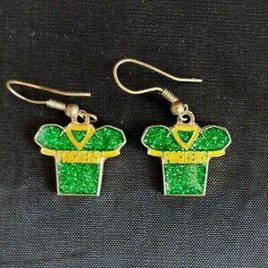 2009 NFL Green Bay Packers Jersey Glitter Ladies Earrings Aminco