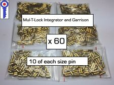 Mul-T-Lock Garrison and Integrator pins, 60 pins in mixed sizes. P&P/Vat Inc