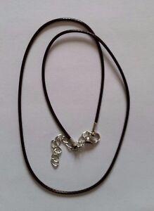 collier, cordon marron vide pour charms Européen beads perle Murano
