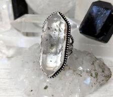 Quartz Starnative Ring Clear And Black Tibetan