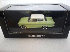 OPEL KADETT A 1962 Green/white 1/43 MINICHAMPS 430 043009