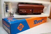 WAGONS TRAIN HO : TREMIE GROSSE CAPACITE + CHARGEMENT de ROCO NEUF boite 4386A