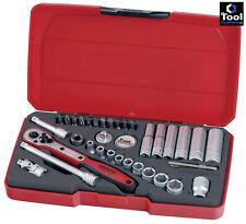 Teng Tools venta! 1/4 Unidad Zócalo profundo trinquete extensión UJ conjunto de herramientas con estuche
