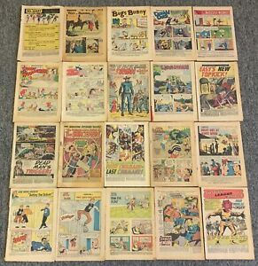 lot of 20 1950s-60s coverless comics~Justice League,Archie,Our Army At War, more