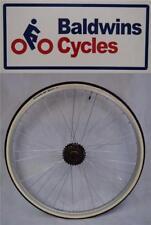 "27"" x 1 1/4 REAR Q/R Bike Wheel + Premium White Wall Tyre & 6 Speed Freewheel"