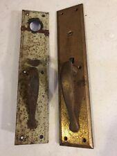 O 44. Lot Of Two Antique Steel Door Pulls