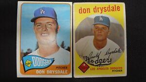 DON DRYSDALE TOPPS #387 & #260