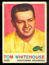 1959 TOPPS CFL FOOTBALL #85 TOM WHITEHOUSE VG-EX SASKATCHEWAN ROUGHRIDERS CARD