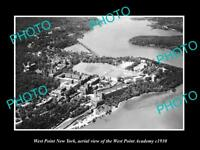 OLD LARGE HISTORIC PHOTO OF WEST POINT NEW YORK AERIAL VIEW OF ACADEMY c1930