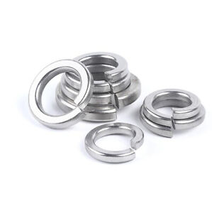 A2 304 Stainless - Spring Coil Split Lock Washer Gasket, Assorted Sizes M1.6-M30