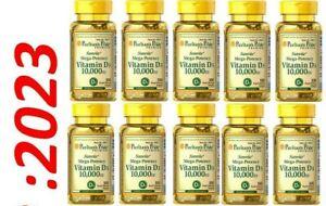 Vitamin D D3 10000 IU 10X100 Softgl Mega-Potency Max Strength USA 2023 Wholesale