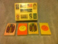 (4)  VINTAGE DECKS of PLAYING CARDS--STARDUST--OWL--SMILEY FACE --FREE SHIP--EUC