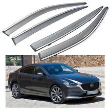 4Pcs Car Window Visor Vent Shade Deflector Sun/Rain for Mazda 6 Sedan 2013-2020
