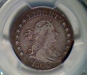 1806 25C Draped Bust Quarter , PCGS F15