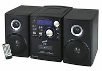SHELF STEREO SUPERSONIC BLUETOOTH SYSTEM MP3 CD CASSETTE PLAYER RADIO USB/SD AUX