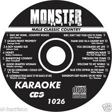 KARAOKE MONSTER HITS CD+G MALE CLASSIC COUNTRY  #1026