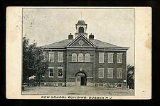New Jersey NJ postcard School Building, Sussex Lafayette DPO Cancel Vintage