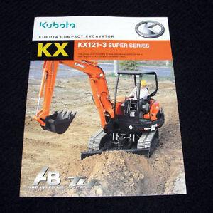 ORIG KUBOTA KX121-3 SUPER SERIES COMPACT EXCAVATOR CATALOG BROCHURE VERY NICE