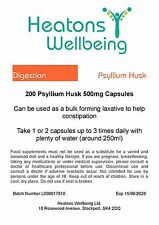 Psyllium Husk 500mg capsules. 200 capsules. SPECIAL INTRODUCTORY OFFER