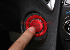 2x Red Engine Start Stop Button Ignition Key Cover For Honda CR-V CRV 2017-2019