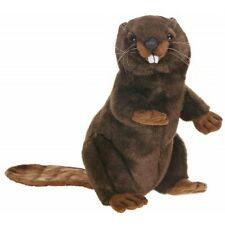 "Hansa Beaver Upright 11"" Plush Stuffed Animal Hand Made 3355 3+ Boys & Girls"