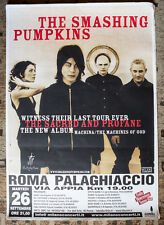 SMASHING PUMPKINS poster manifesto 70 x 100 cm ITALIA tour MACHINA Corbijn Kurt